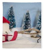 Sweet Sleigh Ride Fleece Blanket