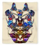 Sweet Symmetry - Flu Bugs Fleece Blanket