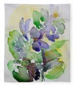 Sweet Violets Fleece Blanket