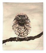 Sweetest Owl Fleece Blanket