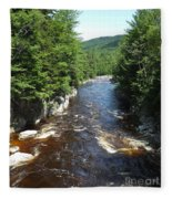 Swift River Below Rocky Gorge New Hampshire White Mountains Fleece Blanket