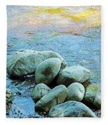 Swift River Rock Kancamagus Highway Nh Fleece Blanket