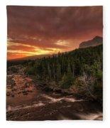Swiftcurrent River Sunrise Fleece Blanket