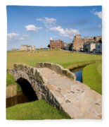 Swilcan Bridge On The 18th Hole At St Andrews Old Golf Course Scotland Fleece Blanket