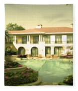Swimming Pool In Luxury Hotel Fleece Blanket