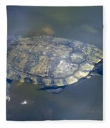 Swimming Turtle Fleece Blanket
