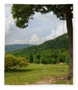 Swing With A View Fleece Blanket