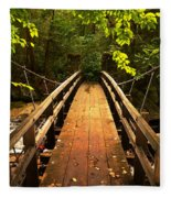 Swinging Bridge Fleece Blanket