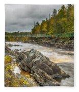 Swinging Bridge Fleece Blanket