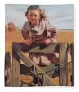 Swinging On A Gate Detail Fleece Blanket