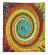Swirl 82 Fleece Blanket