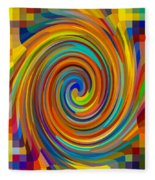 Swirl 83 Fleece Blanket