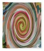 Swirl 92 Fleece Blanket