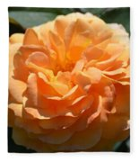 Swirling Peach Rose Fleece Blanket