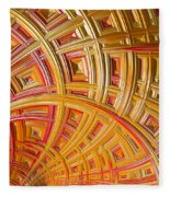 Swirling Rectangles Fleece Blanket