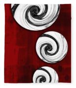 Swirling Round Fleece Blanket