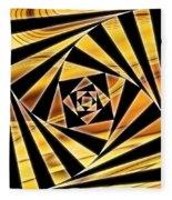 Swirling Spirals Fleece Blanket