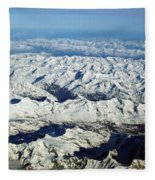 Swiss Alps Fleece Blanket