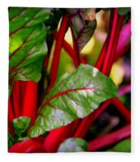 Swiss Chard Forest Fleece Blanket