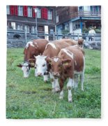Swiss Cows Fleece Blanket