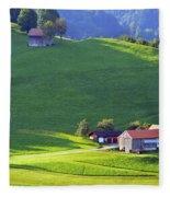 Swiss Farm House Fleece Blanket