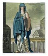 Sybil, Illustration From Lantique Rome Fleece Blanket