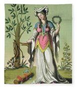 Sybil Of Delphi, No. 15 From Antique Fleece Blanket