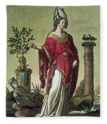 Sybil Of Eritrea With Her Insignia, 1796 Fleece Blanket