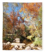 Sycamore And Cottonwood Trees Along The East Verde River Fleece Blanket