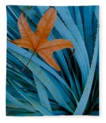 Sycamore Leaf And Sotol Plant Fleece Blanket