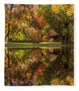 Sycamore Reflections Fleece Blanket
