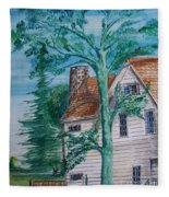 Sycamore Tree Lllustration Fleece Blanket