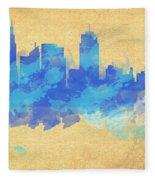 Sydney In Blue Fleece Blanket