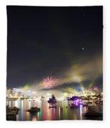 Sydney Navy Fleet Fireworks Fleece Blanket