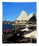 Sydney Opera House Bar Fleece Blanket