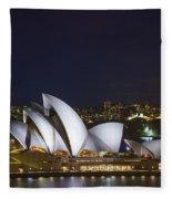 Sydney Opera House In Australia Fleece Blanket