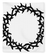 Symbol Crown Of Thorns Fleece Blanket