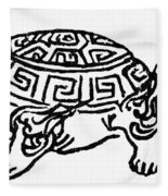 Symbol Tortoise Fleece Blanket