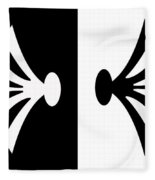 Symmetry In Black And White Digital Painting Fleece Blanket