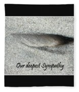 Sympathy Feather Fleece Blanket
