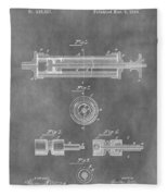 Syringe Patent Design Fleece Blanket