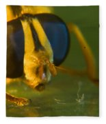 Syrphid Eyes And Antennae Fleece Blanket