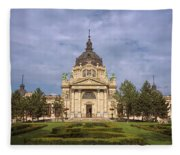 Szechenyi Baths Budapest Hungary Fleece Blanket