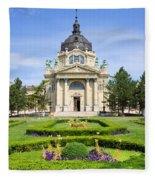 Szechenyi Baths In Budapest Fleece Blanket