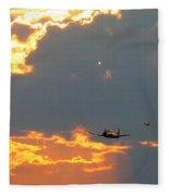 T-28 Trojan Fighter Plane Fleece Blanket