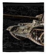 T-54 Soviet Tank Bk-bg Fleece Blanket