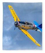 T-6 Texan Flying Fleece Blanket