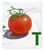 T Art Alphabet For Kids Room Fleece Blanket