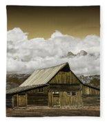 T.a. Moulton Barn In The Grand Tetons Fleece Blanket