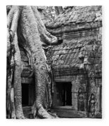 Ta Prohm Roots And Stone 01 Fleece Blanket